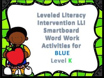 Leveled Literacy Intervention LLI Smartboard Activities Blue Level K 1st Edition