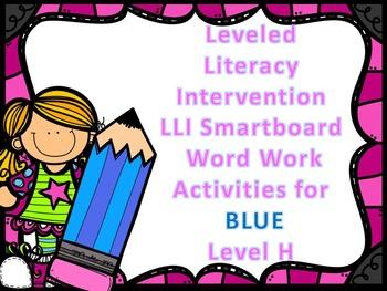 Leveled Literacy Intervention LLI Smartboard Activities Blue Level H 1st Edition