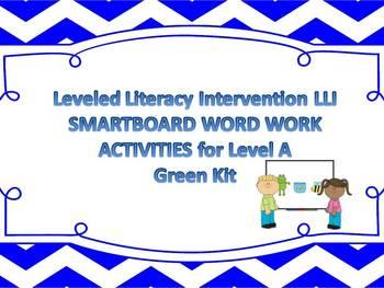 Leveled Literacy Intervention LLI Smartboard Activities Green Level A