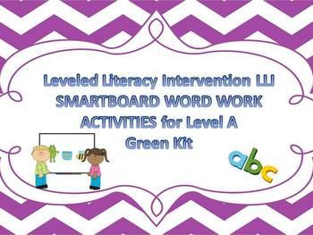 Leveled Literacy Intervention LLI Smartboard Activities Green Level B