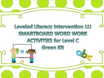 Leveled Literacy Intervention LLI Smartboard Activities Green Level C Version 1