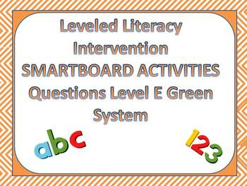 Leveled Literacy Intervention LLI Smartboard Activities Green Level E