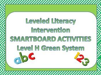 Leveled Literacy Intervention LLI Smartboard Activities Green Level H