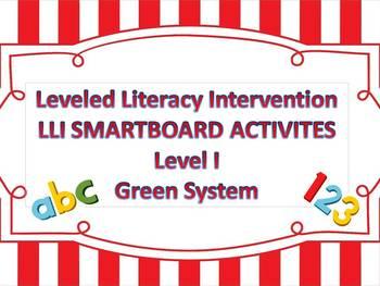 Leveled Literacy Intervention LLI Smartboard Activities Green Level I