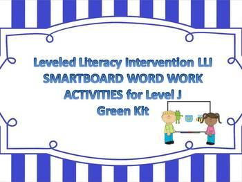 Leveled Literacy Intervention LLI Smartboard Activities Green Level J Version 1