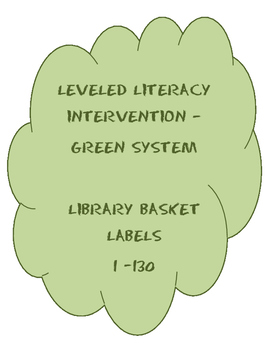 Leveled Literacy Intervention Main Library Labels