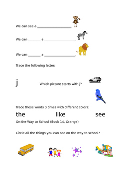 Leveled Literacy Intervention-Orange Level A & 20 comprehension pgs