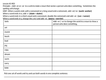 Leveled Literacy Intervention Phonics Lessons 44-56