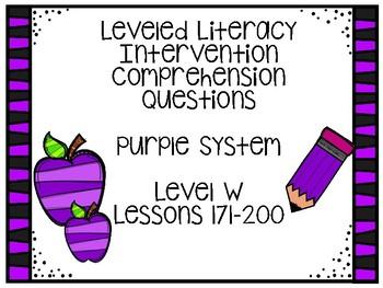 Leveled Literacy Intervention Purple Kit Level W