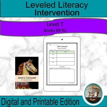 Leveled Literacy Intervention Purple (T) Graphic Organizers for Google Drive