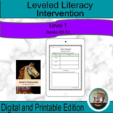 Leveled Literacy Intervention Purple (T) Graphic Organizer