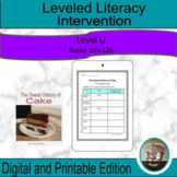 Leveled Literacy Intervention Purple (U) Graphic Organizer