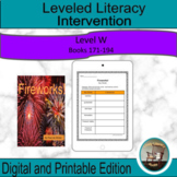 Leveled Literacy Intervention Purple (W) Graphic Organizer