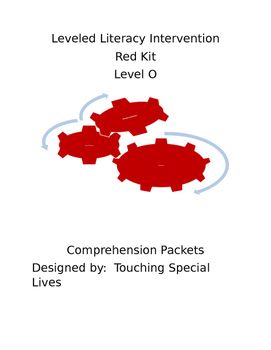 Leveled Literacy Intervention-Red Level O & 50 comprehension pgs