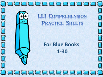 Literacy intervention worksheets teaching resources teachers pay leveled literacy interventions lli worksheets blue books lessons 1 30 fandeluxe Gallery