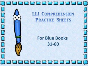 Literacy intervention worksheets teaching resources teachers pay leveled literacy interventions lli worksheets blue books lessons 31 60 fandeluxe Gallery