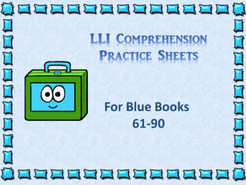 Literacy intervention worksheets teaching resources teachers pay leveled literacy interventions lli worksheets blue books lessons 61 90 fandeluxe Gallery