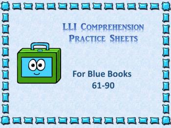 Leveled Literacy Interventions (LLI) Worksheets-Blue Books Lessons 61-90