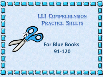 Literacy intervention worksheets teaching resources teachers pay leveled literacy interventions lli worksheets blue books lessons 91 120 fandeluxe Gallery