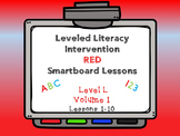 Leveled Literacy Intervention LLI Smartboard Lesson Red Level L Lessons 1-10
