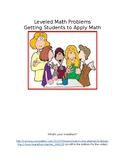 Leveled Math Application Problems