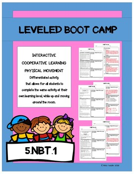 Leveled- BOOT CAMP- Math Activity- 5.NBT.1