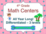 Leveled Math Centers - 4th Grade - All Year Long!