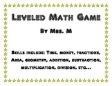 Leveled Math Game