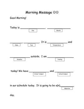 Leveled Morning Message