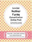 #TpTFlock18 Leveled Number Forms Concentration Games Pack - No prep needed!