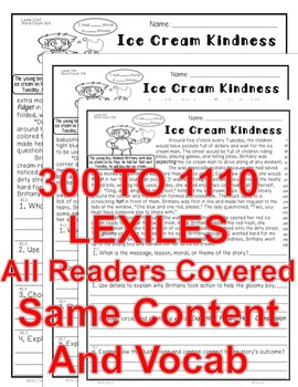 Sharing/Compassion 5 Level Passages Morals Lesson Message ALL-READERS-COVERED