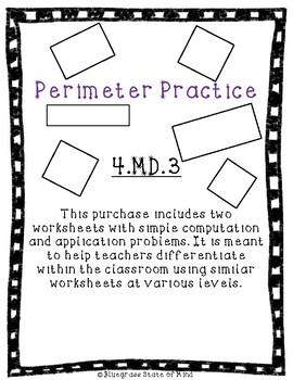 Leveled Perimeter Practice