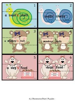 Leveled Phonics Work - ai, ay: possessives