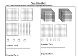 Leveled Place Value Quiz - Standard, Expanded, Word Form, and Value