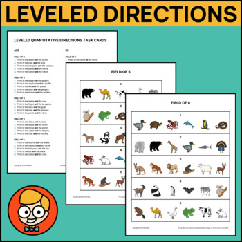 Leveled Quantitative Directions Task Cards