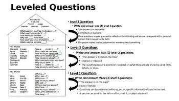 Leveled Questioning Handout