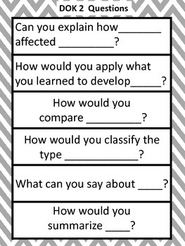 Leveled Questions and DOK Question Stems