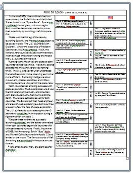 Leveled Rdg Passages for Differentiation: The Space Race: Apollo to the Moon