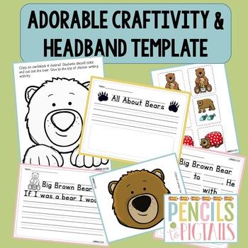 "Leveled Reader 1 - Sight Words ""Like"" & ""Me"" - Bear Headband & Craftivity"
