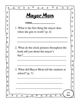 Leveled Reader Activity Sheets for Scott Foresman Reading Street (Unit 2)