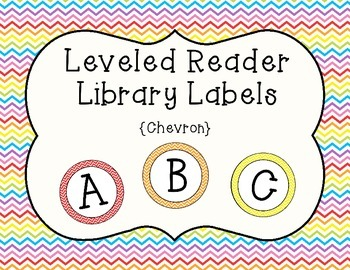 Guided/Leveled Reading Library Labels {Chevron}
