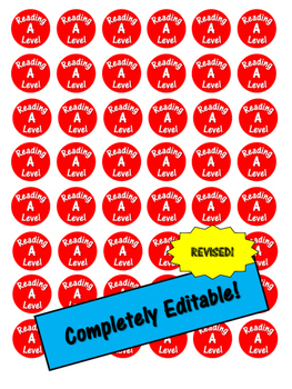 Organize Your Classroom Library! *Leveled Sticker Printable*