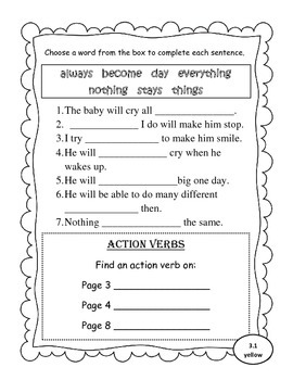 Leveled Reader Activity Sheets for Scott Foresman Reading Street (Unit 3)
