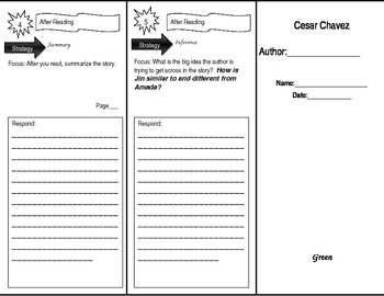 Leveled Reader Trifold for Treasures: My Diary Unit 1 week 1