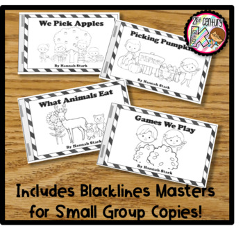 Printable Leveled Books for Kindergarten - Fall Changes Levels A, B, & C Bundle