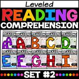 Leveled Reading Comprehension Passages A-I SET TWO **growing BUNDLE**
