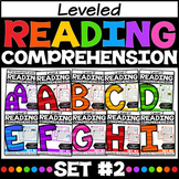 Leveled Reading Passages with Comprehension Questions SET 2 Distance Learning