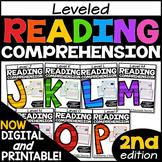 Leveled Reading Comprehension Passages and Questions Bundle J-P