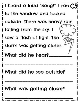 Leveled Reading Comprehension Passages ~ Guided Reading ~ Level C ~ Leveled Text