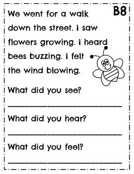 Leveled Reading Comprehension Passages ~ Guided Reading ~ Level B ~ Leveled Text